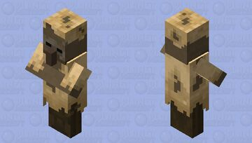 Husk Villagers Minecraft Mob Skin