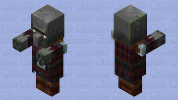 Zombie Pillager Minecraft Mob Skin