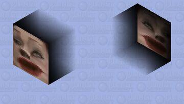 Floating Face of Naoko Ken (Shooting) Minecraft Mob Skin