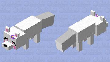 "White Fox ""Orchid"" Minecraft Mob Skin"