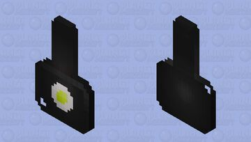 Frying pan with fried egg (BETTER IN 3D) Minecraft Mob Skin