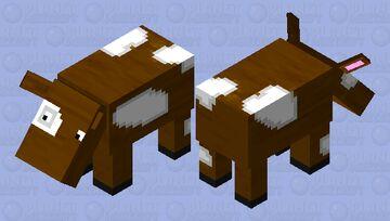Hoglin Cow Minecraft Mob Skin