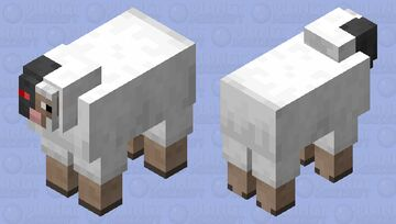 Cyborg Sheep Minecraft Mob Skin