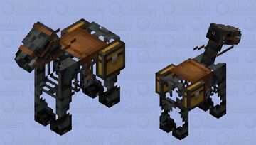 Horse Wither Skeleton Minecraft Mob Skin