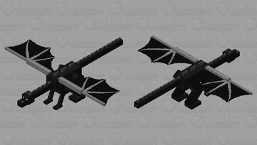 Furious Ender Dragon Minecraft Mob Skin