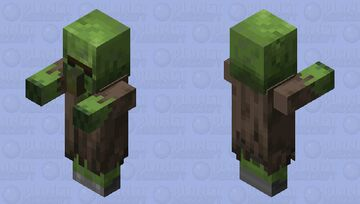 Zombie Villager With Zombie Eyes Minecraft Mob Skin