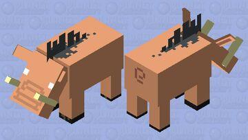 Barebones Hoglin Minecraft Mob Skin