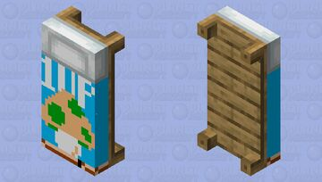 Super Mario Bros 1 1-UP bed Fixed Minecraft Mob Skin