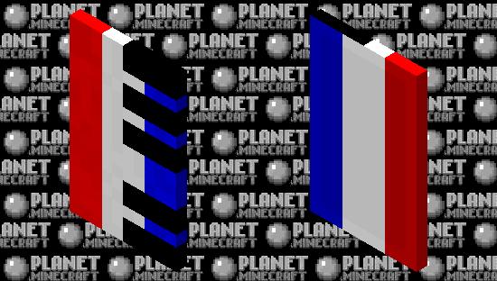 French Flag Piano Cape Minecraft Skin