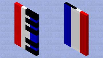 French Flag Piano Cape Minecraft Mob Skin