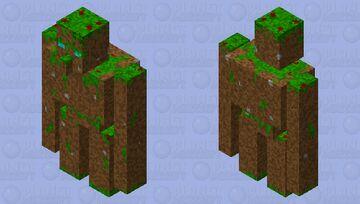 Lazy Dirt Golem Skin ( Improved) Minecraft Mob Skin