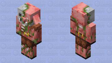 Zombified Extra Piglin Minecraft Mob Skin