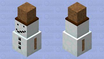 Short Snowman With Hat Minecraft Mob Skin