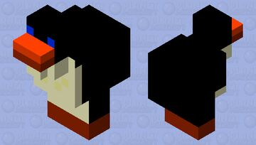 Topper the penguin  (Look For Topper Waddling Around Your profile Page! Once You See Him, Click Him!) Minecraft Mob Skin
