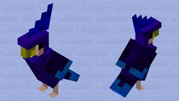Golden Beak Blue Macaw Minecraft Mob Skin