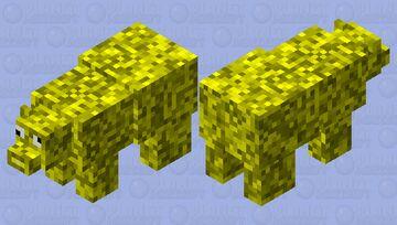 silly golden polar bear Minecraft Mob Skin