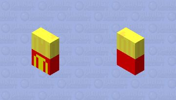 French fries that exopod in your face Minecraft Mob Skin