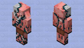 Skulk Zombified Piglin Minecraft Mob Skin