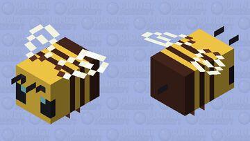 Plastic/Smooth Bee Minecraft Mob Skin