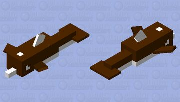 Gingerbread Dolphin Minecraft Mob Skin