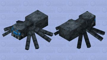 Slightly Blue-ish Spider Minecraft Mob Skin