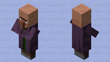 Old villager cleric in 1.14 style Minecraft Mob Skin