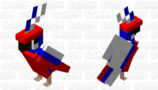 Russia Parrot Minecraft Skin