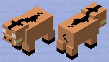 Pig as a hoglin Minecraft Mob Skin