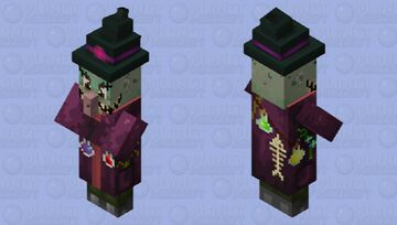 Old witch Minecraft Mob Skin