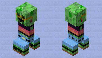 VSCO Creeper Minecraft Mob Skin