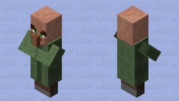 villager with pillager eyebrows Minecraft Mob Skin
