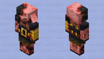 Withered Piglin Brute Minecraft Mob Skin