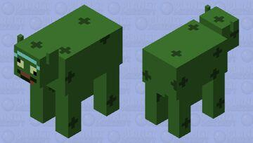 Pickle Rick Cow Minecraft Mob Skin