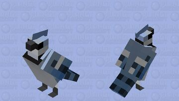 Gaio-azul (Cyanocitta cristata) Minecraft Mob Skin