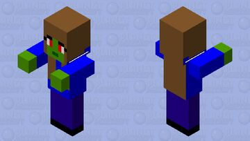 zombie in blue sweat shirt Minecraft Mob Skin