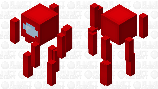Red - Among Us Blaze Minecraft Skin