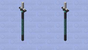 """Seaking"" Modern Fishing spear Minecraft Mob Skin"