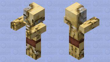 Brass Zombie Pigman Minecraft Mob Skin