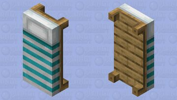 Light-Blue Striped Bed Minecraft Mob Skin