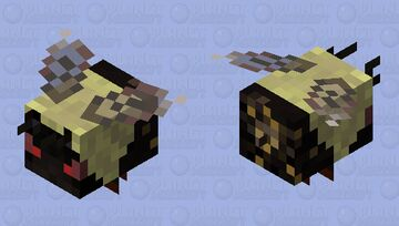 Bumble Bee [Angry+Pollen] Minecraft Mob Skin