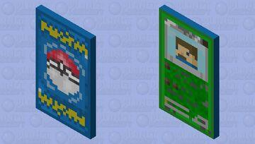 Pokemon Card Cape Minecraft Mob Skin