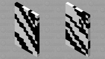 zebra REAL skin cape Minecraft Mob Skin