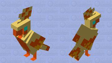 Shiny Galarian Moltres Minecraft Mob Skin