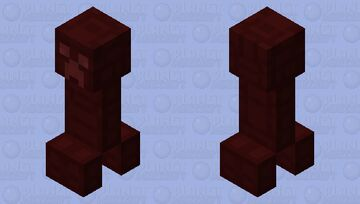 Red Scale Plated Creeper Minecraft Mob Skin