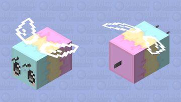Bee Prideful! //\ Pan Flag Bee Minecraft Mob Skin