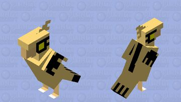 Shiny Galarian Zapdos Minecraft Mob Skin