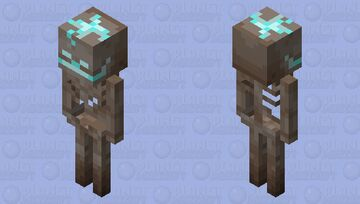 Skeleton of soul sand valley Minecraft Mob Skin