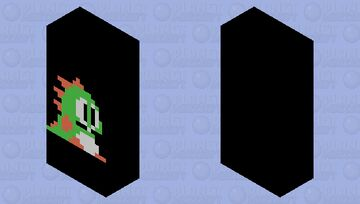 The green dragon thing from bubble bobble Minecraft Mob Skin