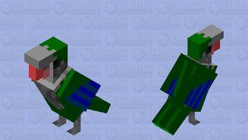 Quaker parrot (Monk parakeet, wild type) Minecraft Mob Skin