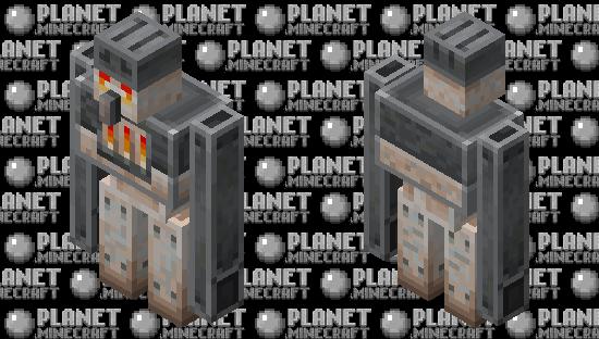 Iron Furnace Golem Minecraft Skin
